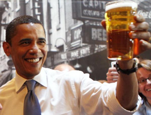 Image result for obama drinking beer