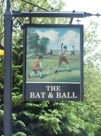 bat & ball sign