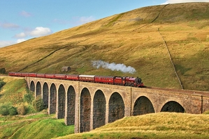 Up hill, down ale on a railway masterpiece that crosses the Pennines to Scots border